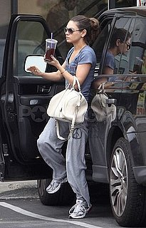 Pictures of Mila Kunis Stopping at a Gym in LA