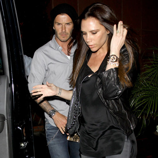 Pictures of Pregnant Victoria Beckham and David With Gordon Ramsay