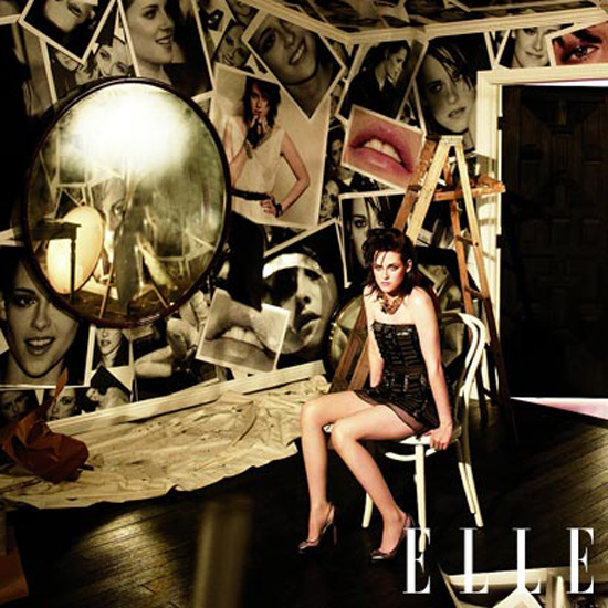 Kristen Stewart showed a lot of leg in the June 2010 issue of US Elle.