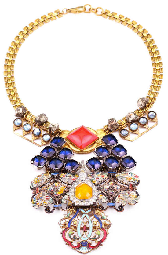 """True story: this Lulu Frost """"100 Years"""" necklace  ($1,925) was made from jewels from every decade from 1860-1960."""