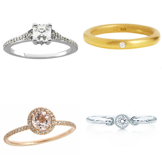 Budget engagement rings? It's actually a lot more beautiful and acceptable than it sounds.