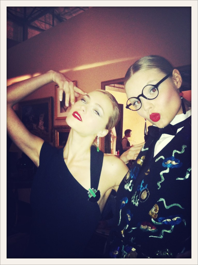 Valentina Zelyaeva and Magdalena Frackowiak for Ralph Lauren
