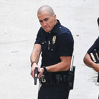 Jake Gyllenhaal and Michael Pena on the Set of End of Watch