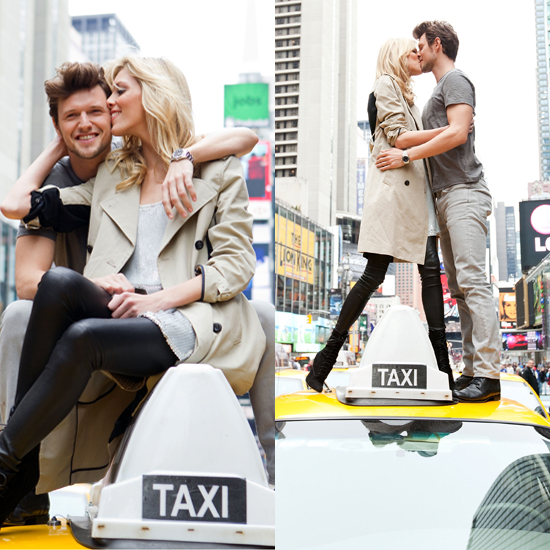 Anja Rubik and Fiance Sasha Knezevic Pose For DKNY in New York