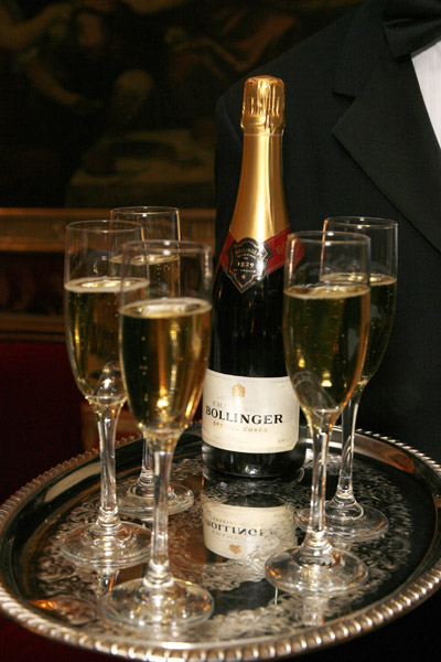 Not traditional: a Champagne other than Bollinger.