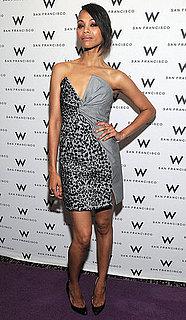 Zoe Saldana Wears Salvatore Ferragamo Dress to San Francisco International Film Awards
