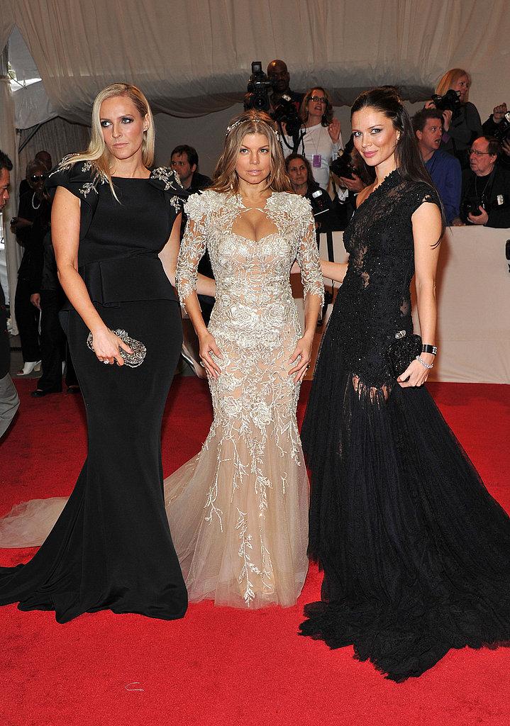 Keren Craig, Fergie, and Georgina Chapman, all in Marchesa