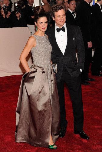 Livia Giuggioli in Stella McCartney and Colin Firth in Tom Ford