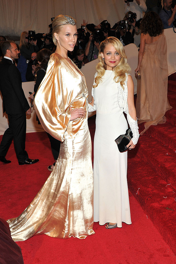 Britt Maren in custom Winter Kate, with designer Nicole Richie.