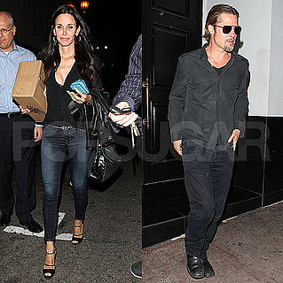 Brad Pitt and Courteney Cox Out in LA