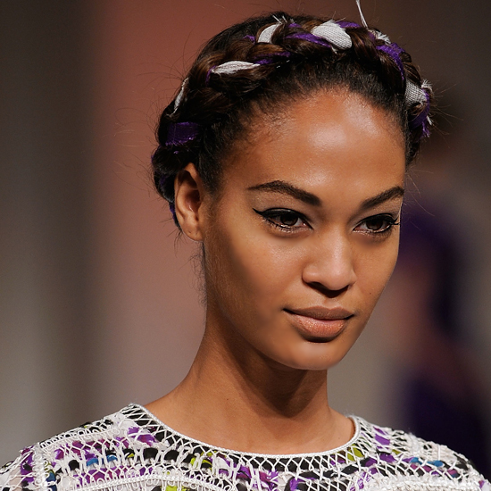A headband braid stays in place like nothing else. So if you're a bridesmaid or a guest who knows she'll be at an active wedding, it's worth giving the style (especially if you add a pretty ribbon in colours that complement your dress) a try. Take this lovely look from Oscar de la Renta as inspiration.