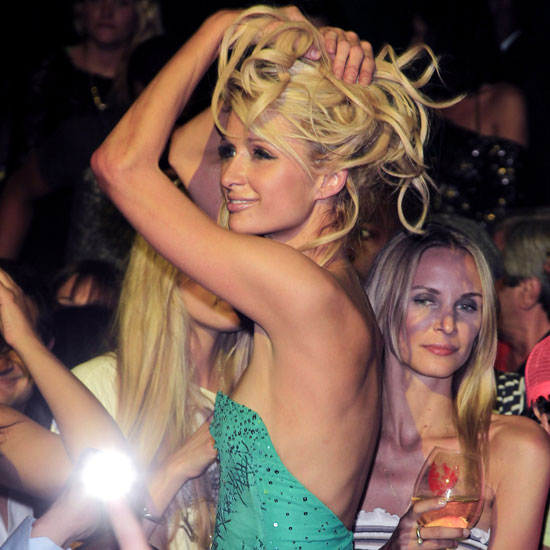 Paris Hilton partied during a fundraiser at the festival in 2011.