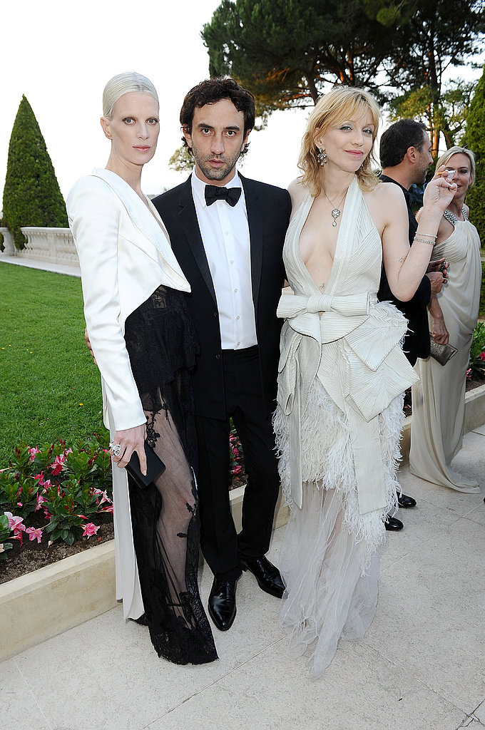 Kristen McMenamy, Riccardo Tisci, Courtney Love in Givenchy couture