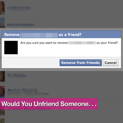 Reasons For Unfriending Someone on Facebook