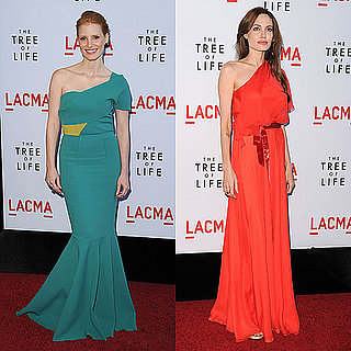 Angelina Jolie and Jessica Chastain on the Red Carpet