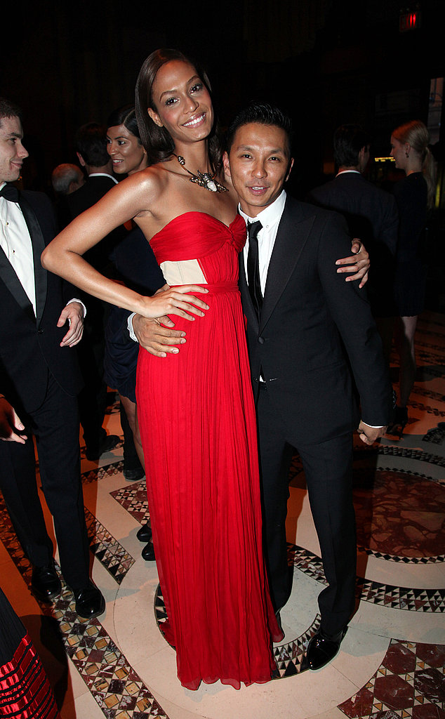 Joan Smalls in Prabal Gurung with the designer