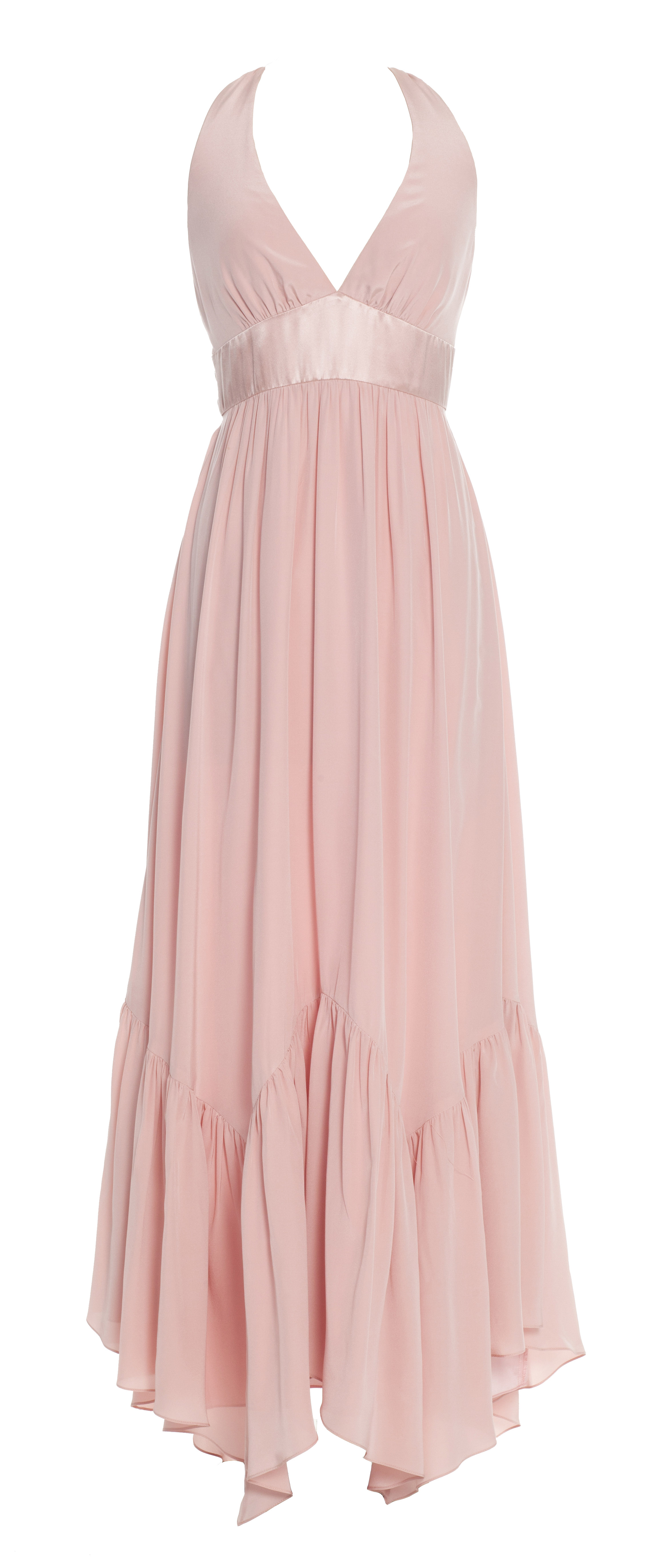 Lily of the Valley Halter Maxi Dress