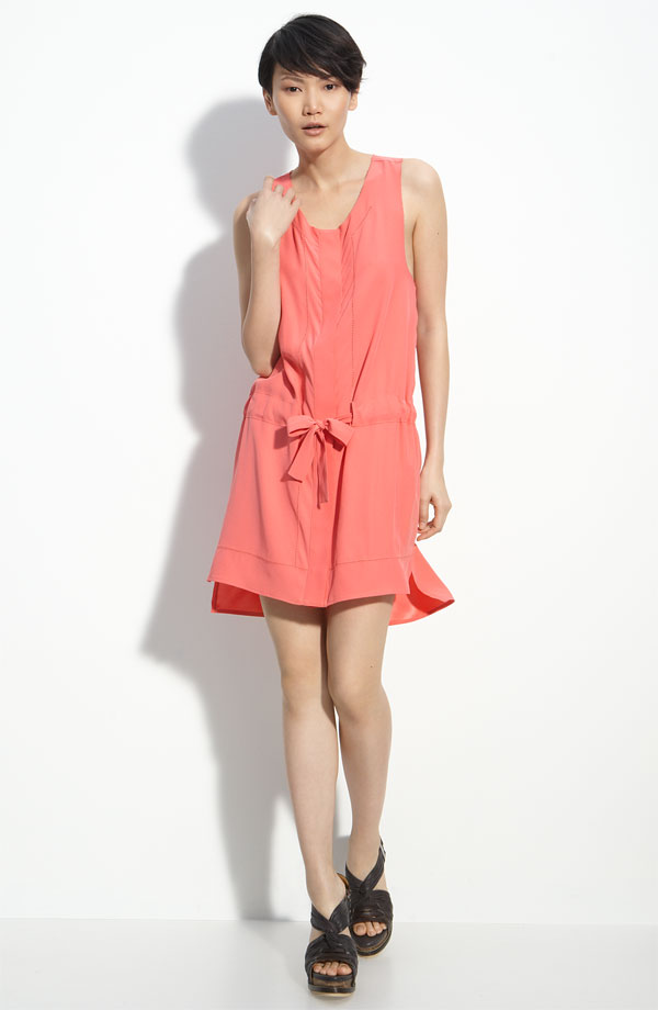 We love the dropped tie-waist and slightly uneven hemline. Rag & Bone Tie-Waist Dress, $395