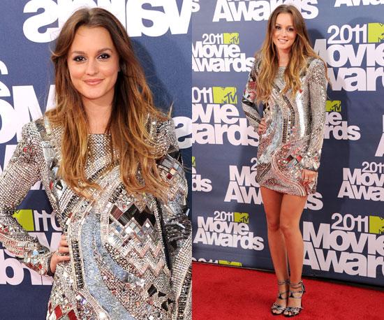 Leighton Meester at 2011 MTV Movie Awards 2011-06-05 18:40:32