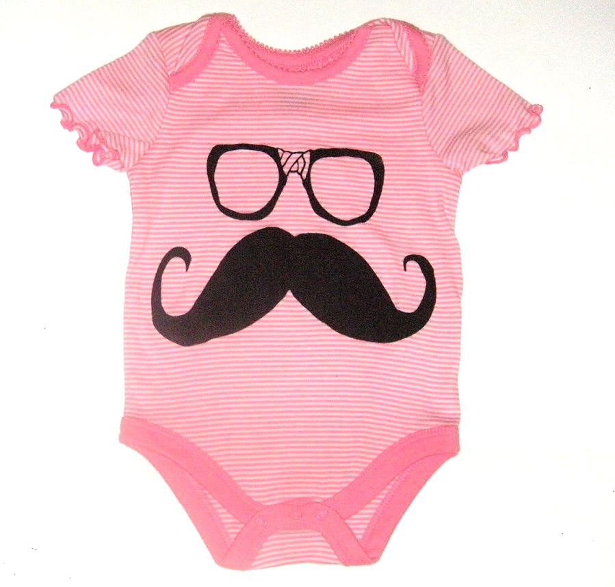 Mustache and Glasses Onesie