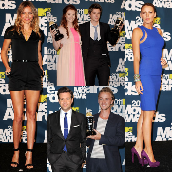 Blake Lively and Cameron Diaz Pictures in the 2011 MTV Movie Awards Press Room