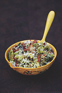 Pearled Couscous With Brussels Sprouts and Chickpeas