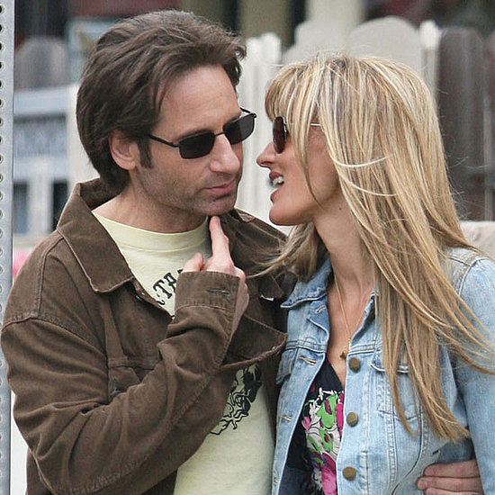 Pictures of David Duchovny and Natascha McElhone Filming Californication