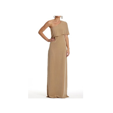 Silk Faille One Shoulder Dress