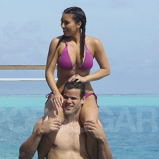 Kim Kardashian Bikini Pictures in Bora Bora With Shirtless Kris Humphries