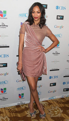 The actress donned a blush-hued Valentino dress while attending a red carpet event in February 2011.