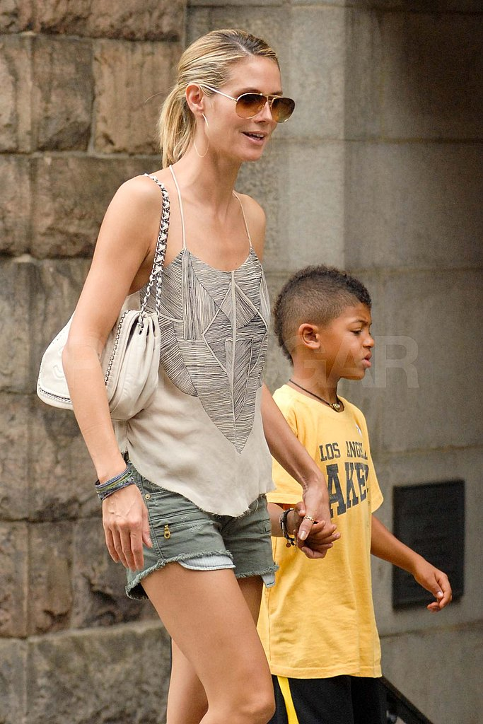 Heidi Klum and Henry Samuel held hands.