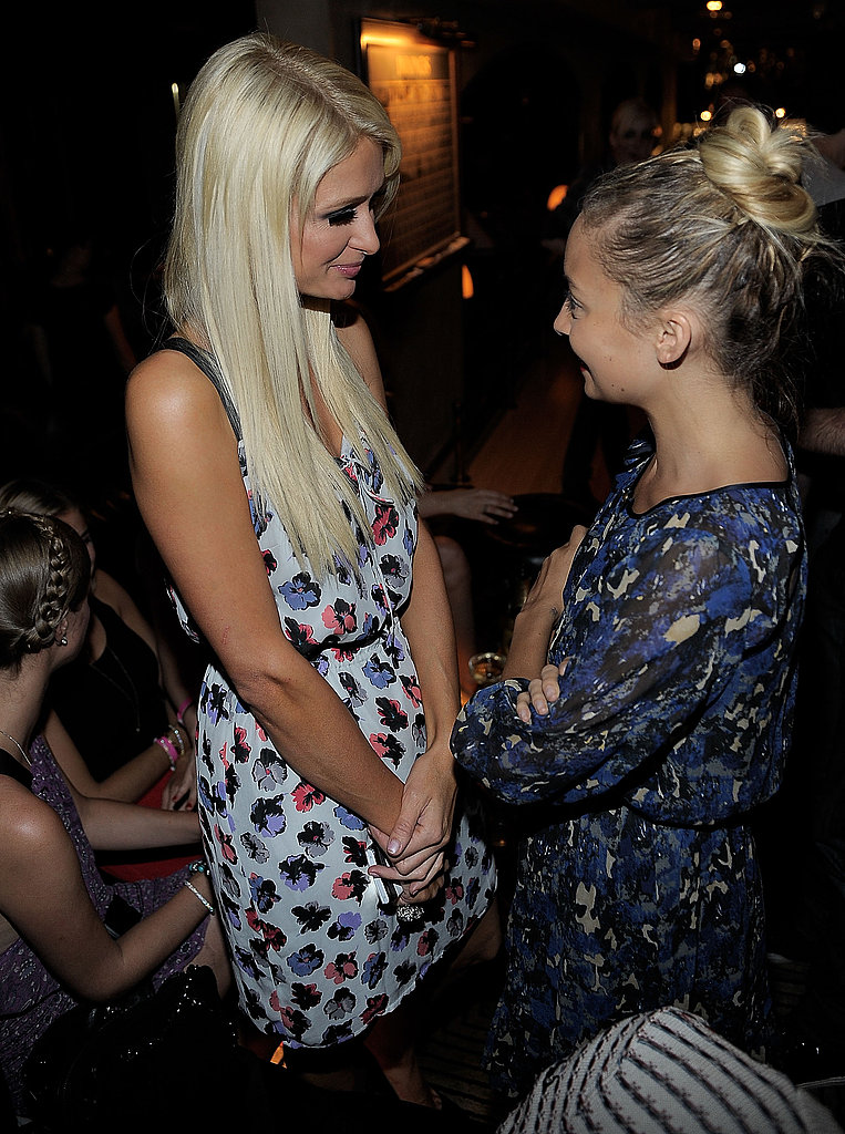 Nicole Richie and Paris Hilton at I Heart Ronson Launch