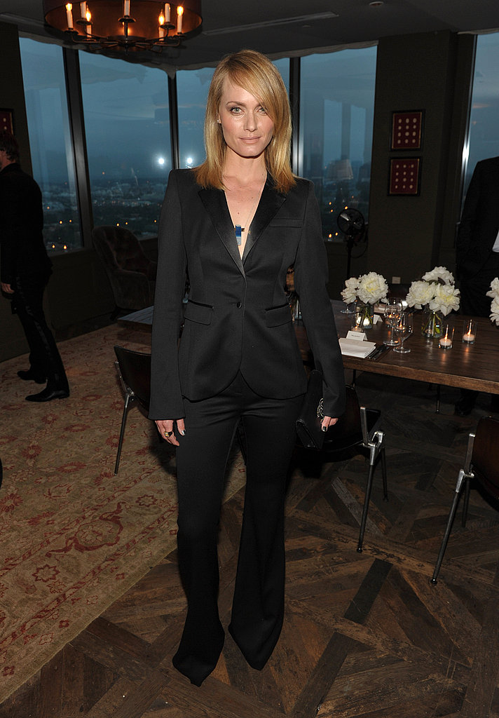 Rachel Zoe's party brought out Amber Valletta.