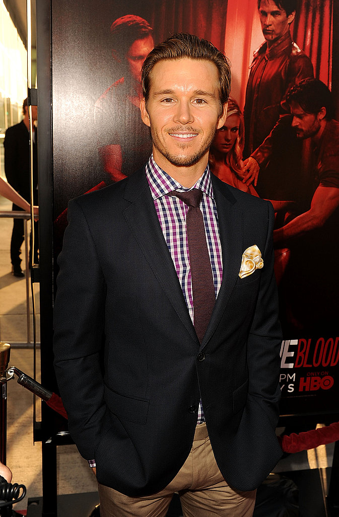 Ryan Kwanten chose a summery suit for the debut of True Blood.