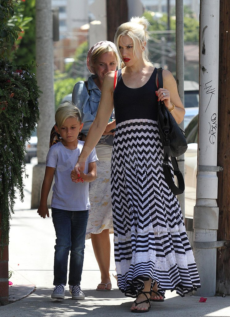 Gwen Stefani and her oldest son Kingston do lunch.