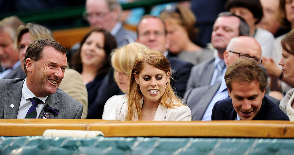 Princess Beatrice and Dave Clark watched the Wimbledon championships.