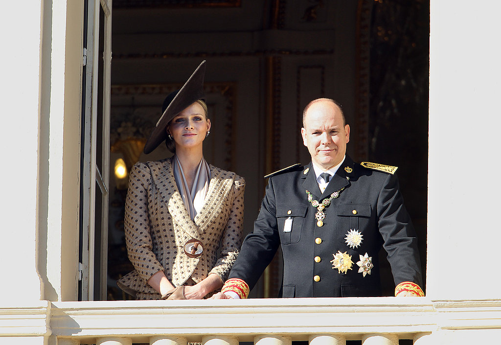 Prince Albert of Monaco and his then-fiancée appeared on the balcony of the Palace of Monaco in November 2010. Source: Getty / Valery Hache/AFP
