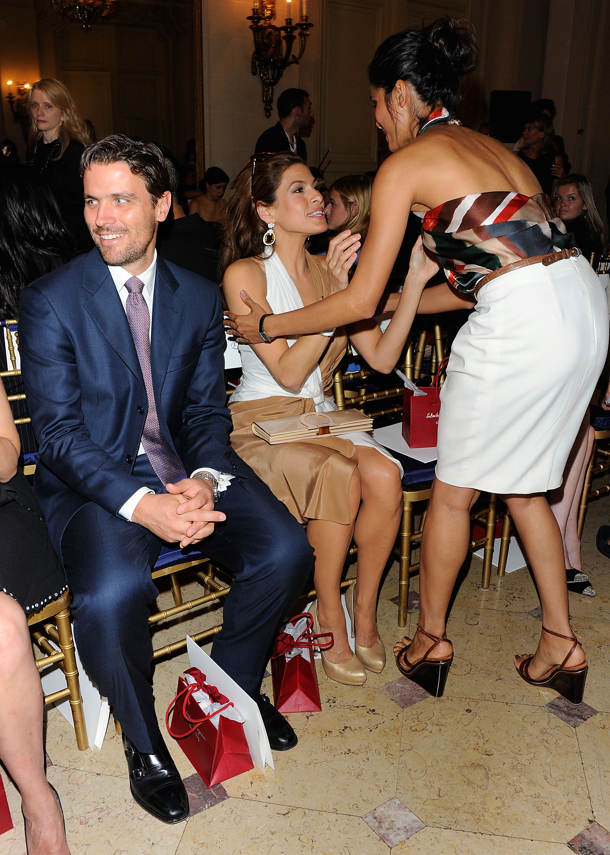 James Ferragamo, Eva Mendes and Freida Pinto