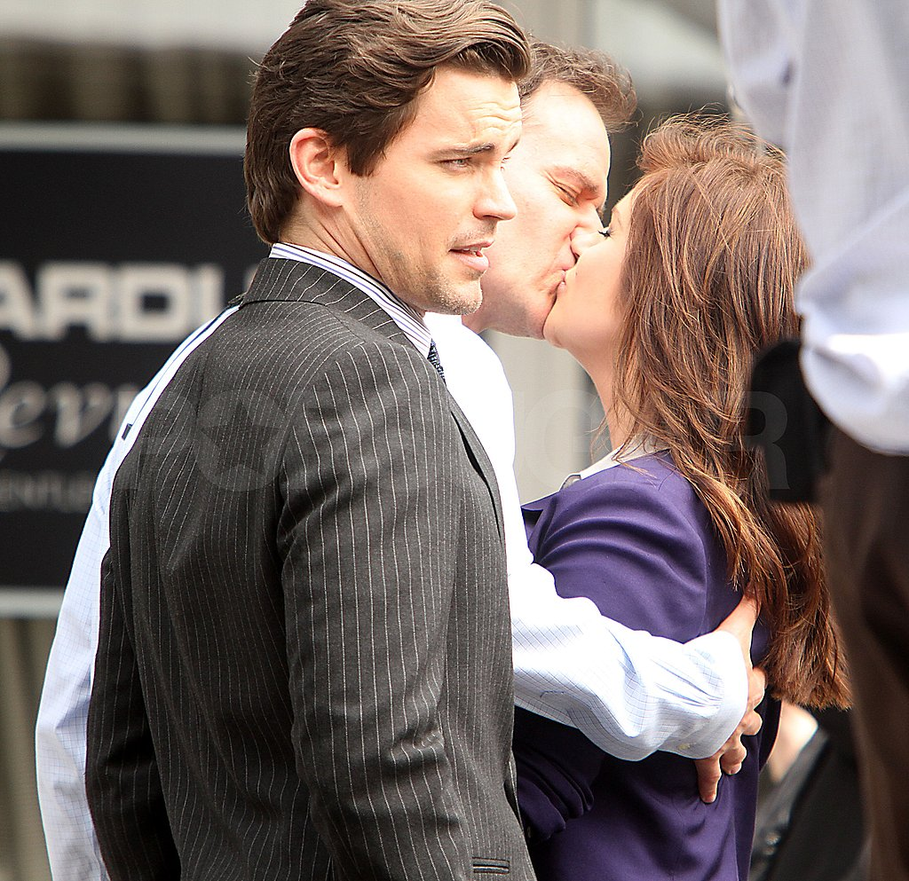 Matt turned away while his costars made out.