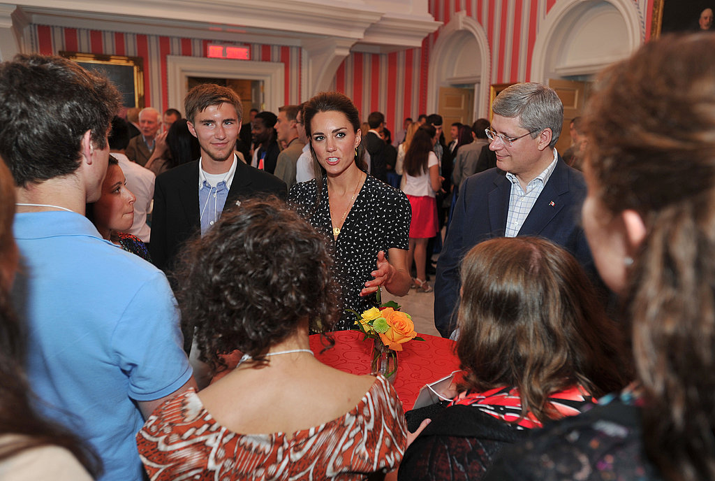 Kate Middleton spoke to charitable youth in Canada.