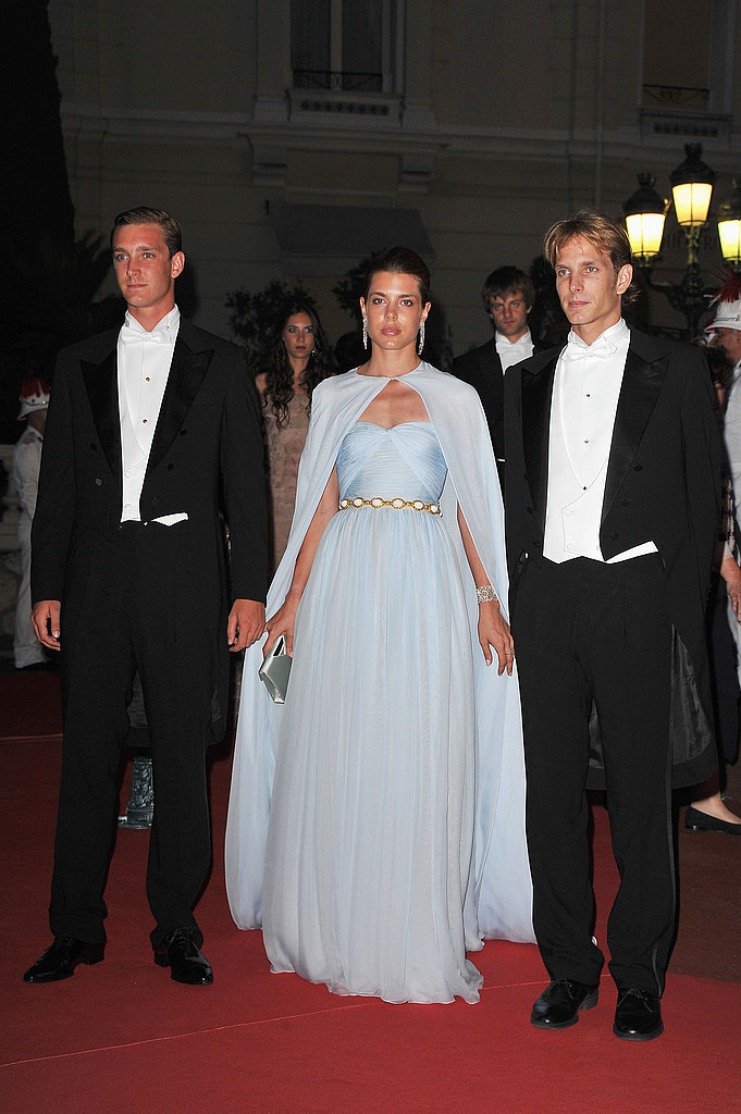 Pierre Casiraghi, Charlotte Casiraghi, and Prince Andrea Casiraghi attended a dinner at Opera terraces after the religious wedding ceremony of Prince Albert II of Monaco and Princess Charlene of Monaco.