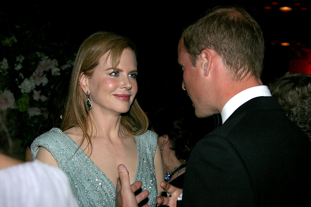 Nicole Kidman and Prince William at BAFTA Brits to Watch dinner.