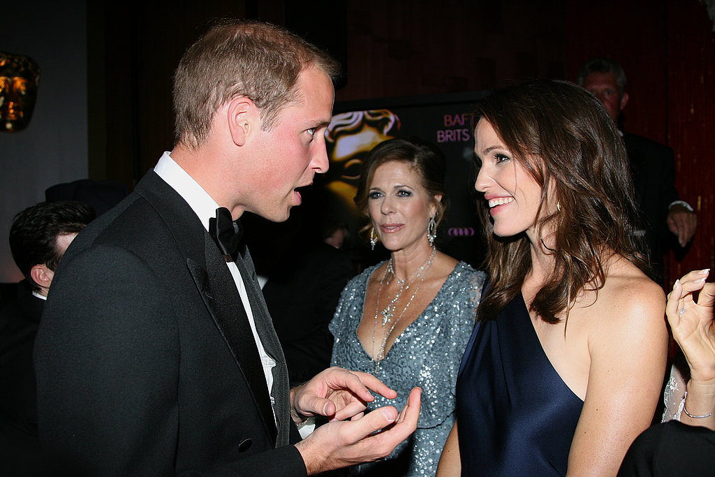 Prince William with Jennifer Garner at the BAFTA Brits to Watch event in LA.