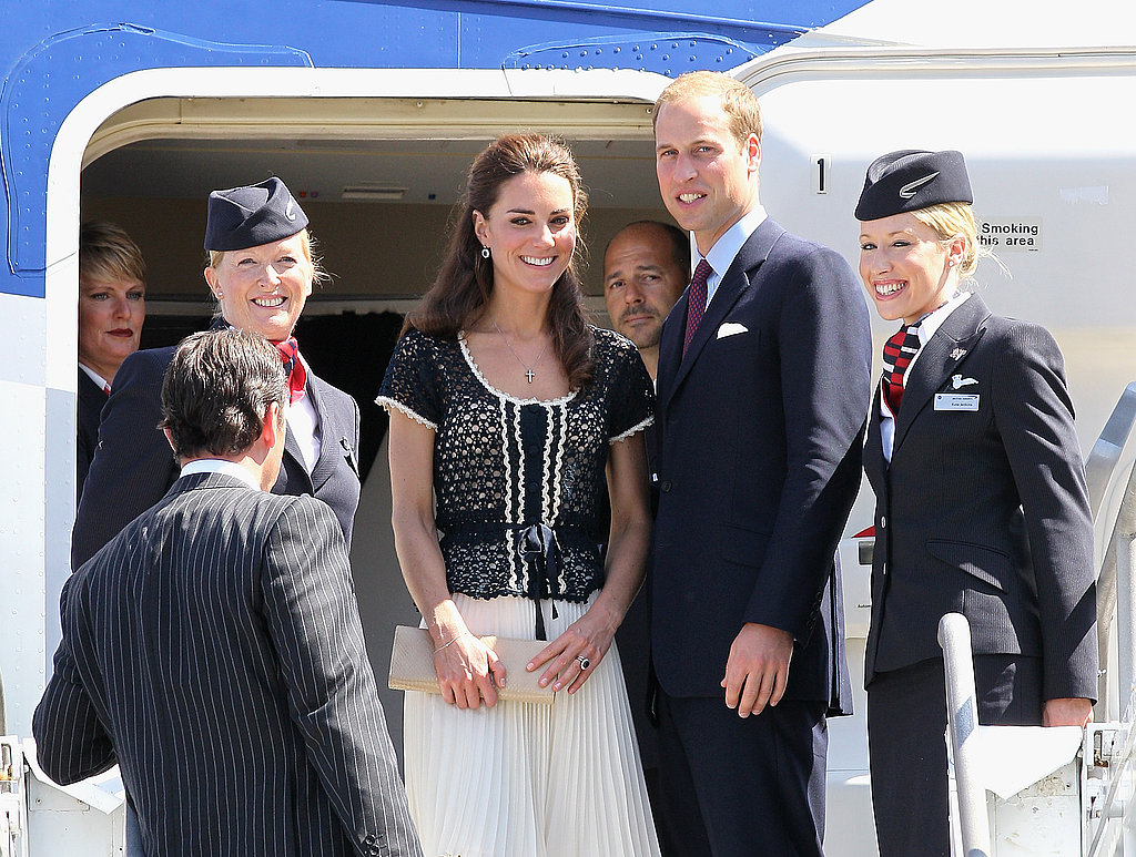 Prince William and Kate Middleton fly out of LAX.