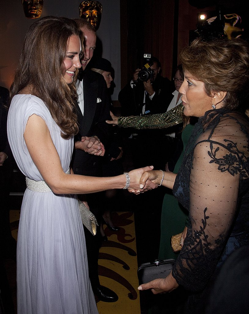 Kate Middleton with Jennifer Lopez's mum at BAFTA Brits to Watch event in LA.