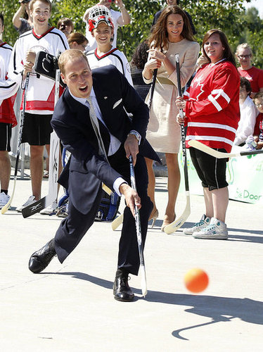 Prince William had some fun and showed off his hockey skills.