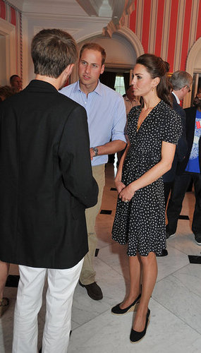 Prince William and Kate Middleton chatted with Canadians at Rideau Hall.