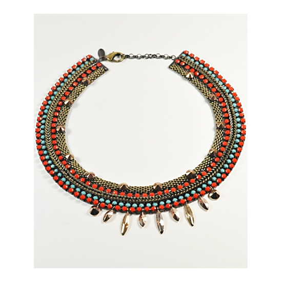 Iosselliani Red Ornate Necklace, $400