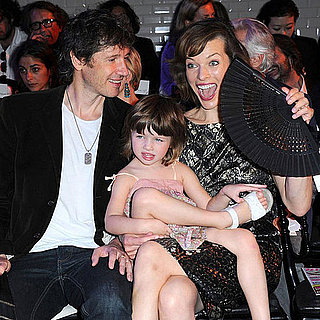 Milla Jovovich and Daughter Ever Anderson at Gaultier Show