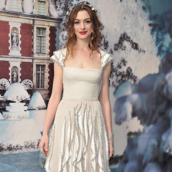 Pictures of Anne Hathaway at White Fairy Tale Love Ball